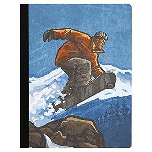 """软封面 140 页推荐大学规则笔记本 Snowboarder 9.75 x 7.25"""""""