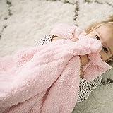 "Saranoni Bamboni 奢华竹纤维婴儿毯 浅粉色 Receiving (30""x40"")"