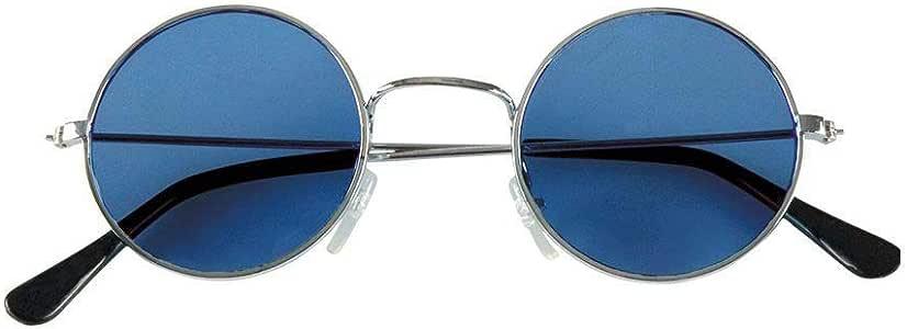嬉皮士风格的夜晚太阳镜 蓝色