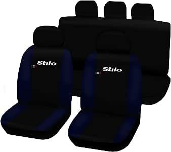 Lupex Shop Stilo N. Bs 座椅套双色,黑色/深蓝色