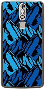 YESNO 山地色 蓝色 (透明) / for ZTE AXON mini/MVNO智能手机(SIM免费终端) MZTAXM-PCCL-201-N008