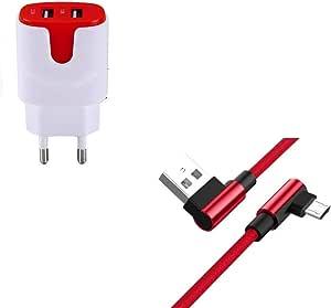 SOLO3 Beats 无线耳机智能手机微型 USB(90 度快速充电 + 双色电源插头)(红色)