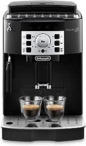 De'Longhi 德龙 全自动咖啡机Magnifica S ECAM 22.110.B – 配有奶泡器 直选键和控制旋钮 2杯功能 1.8升大水箱 35.1 x 23.8 x 43厘米 黑色