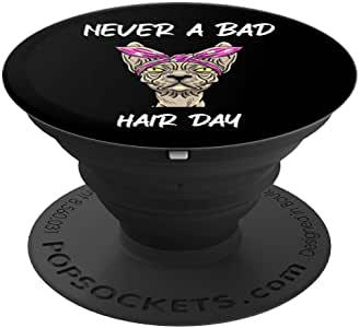Never A Bad Hairday Cat 趣味 Sphynx Feline 爱猫人士礼物 PopSockets 手机和平板电脑握架260027  黑色