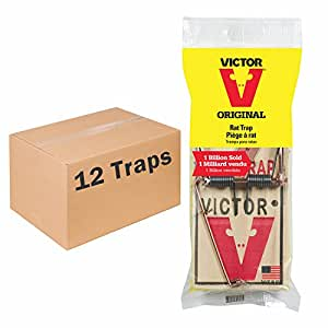 Victor Metal Pedal Rat Trap - M201 12片装