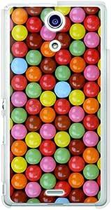CaseMarket docomo Xperia A ( SO-04E )聚碳酸酯透明硬壳 [ 巧克力 & 球 ] Sony