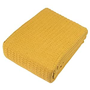 Cozy Bed Santa Barbara Waffle Weave Blanket, Twin, Camel