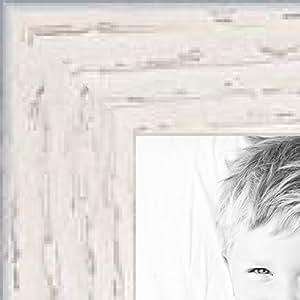 """画框红橡树染黑 0.825 英寸宽 白色 3 x 5"""" 1WOM0066-81784-YWHT-3x5"""