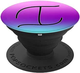 黑色图案首字母字母 I 在蓝*紫色粉色渐变波震动袜套和支架适用于手机和平板电脑260027  黑色