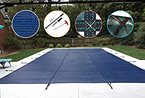 Water Warden Pool Safety Cover 蓝色 18ft x 40ft