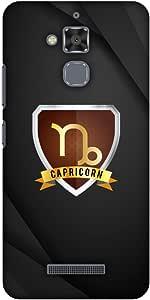AMZER Designer 超薄卡扣式硬壳带屏幕护理套件适用于华硕 ZenFone 3 Max ZC520TL 高清彩色,超轻背壳AMZ601040328157  Black Capricorn