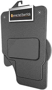 Connected Essentials 5032488 定制重型定制汽车脚垫,适用于 Touran 椭圆形夹子 (2006-2010),灰色带蓝色饰边,高级 5021850