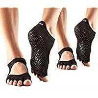 ToeSox 女士半脚趾 Bellarina Grip 瑜伽袜 2 双装