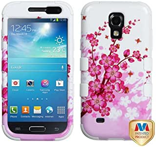MyBat Samsung Galaxy S4 mini TUFF Hybrid Phone Protector Cover - Retail Packaging - Spring Flowers/Solid White