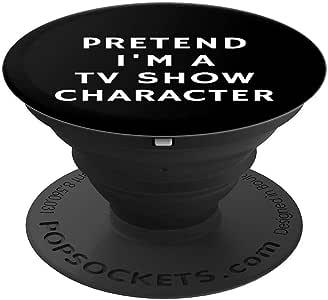 趣味懒人万圣节假日 I'm A TV Show Ch 礼物女士男士流行袜子手机和平板电脑用支架。260027  黑色