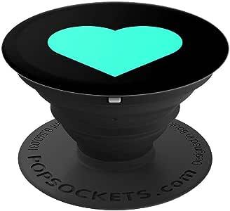 可爱的青色心形女孩或女性流行袜子手机和平板电脑抓握支架260027  黑色