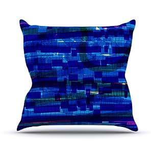 Kess InHouse Frederic LevyHadida 交通方块室内/室外抱枕 20 in. 蓝色 FH1003DOP04