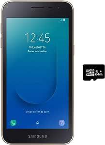 "Samsung 三星 Galaxy J2 Core(16GB)5.0 \""(约12.7厘米) Android 8.0 GSM 工厂已解锁手机,美国+全球4G LTE-国际版J260M / DS(金色,16GB + 64GB SD捆绑)"