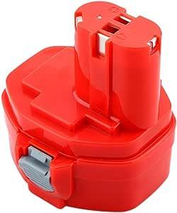 Amsahr MAK-14.4 3.0 A 14.4 V 替换电源工具电池 适用于 Makita 1420/1422/1433/1434/1435/1435F/192699-A,193158-3,192600-1 - 黑色