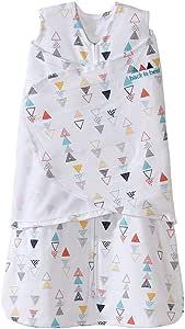 HALO SleepSack 3种用法可调式婴儿襁褓,纯棉-中性三角形图案,新生儿