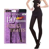 ATSUGI 厚木 110D光发热连裤袜(2双组)黑色L-LL (亚马逊自营 保税区发货)