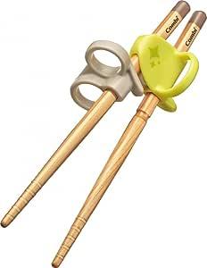 Combi 康贝婴儿用筷子 初学者筷子 实木筷子  青橙绿色 右手用
