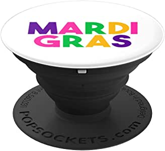 Mardi Gras Laissez Les Bon Temps Rouler Parade 派对礼物 PopSockets 手机和平板电脑握架260027  黑色