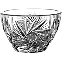 Crystaljulia 6054 碗,铅水晶,飞镖图案,手工打磨,9.2 厘米