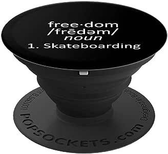 Freedom Definition 滑板滑冰器 PopSockets 握把和支架,适用于手机和平板电脑260027  黑色