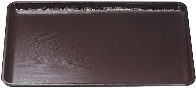 日式盆 尺4 榉木会座盆 新溜SL 42.5cm×30.5cm F107108-25