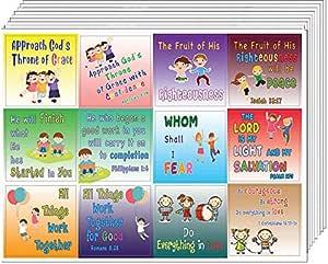学校儿童圣经经文贴纸(10 张) (10-sheets) Building Scriptures Stickers for Kids (10-sheet)