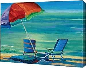 "PrintArt GW-POD-11-DNS-109-30x22 ""Day At The Beach II""由 Kathleen Denis 创作画廊装裱艺术微喷油画艺术印刷品,76.20 cm X 55.88 cm"