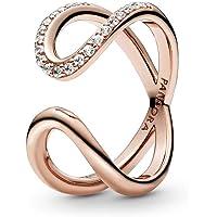 Pandora 潘多拉玫瑰女士戒指 带绳 无穷大 188882C01
