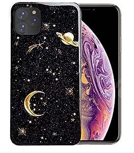 Shellstyle 时尚可爱 iPhone 手机壳,适用于 iPhone 11Pro(5.8 英寸)2019 *奢华弹性凝胶手机壳,全边保护 iPhone 11 Pro (5.8 inch) Star Black