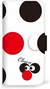 MITAS 智能手机保护壳翻盖型圆点小丑  A 4_AQUOS * (306SH)