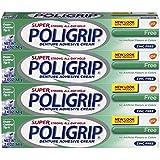 Super Poli-grip 原始*无锌义齿胶膏,4 支装