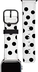 Gocase 38 40 毫米 手镯watchband-black-circles-38-40-silver Silber Black Circles