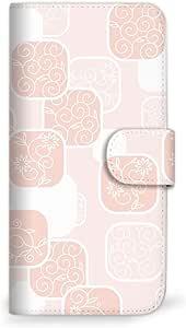 Mitas 智能手机壳 手册式 花 花纹 花朵图案 花MIR-0086-PK/KYV47  37_BASIO4 (KYV47) 粉色