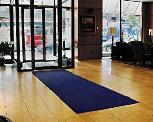 """Notrax 130 Sabre Decalon Entrance Mat, for Entranceways and Light to Medium Traffic Areas, 3' Width x 4' Length x 5/16"""" Thickness, Navy"""