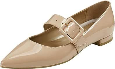 Aerosoles 女式连衣裙,芭蕾平底鞋,裸色漆皮
