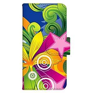 智能手机壳 手册式 对应全部机型 印刷手册 wn-449top 套 手册 图形艺术 UV印刷 壳WN-PR190730-M HTC J ISW13HT 图案E