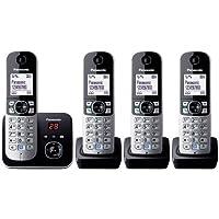 Panasonic松下 KX-TG6823GS DECT - 无绳电话,图形显示屏带电话答录机 黑色 Quattro m…