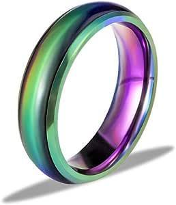 Ello Elli 6MM 舒适贴合不锈钢变色心情情节戒指