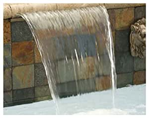 Pentair 581218ASW Magicfalls 水效延展式 6 英寸唇部系列圆弧板,白色,18 英寸