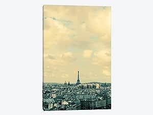 "iCanvasART 1 件蓝色巴黎画布印刷品 Alicia Bock 12"" x 8"" WAC2431-1PC3-12x8"
