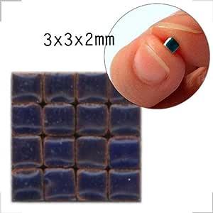 Mosaic-minis(1/8 英寸)(3x3x2mm),1000 块, RB01, Purple blue 101225