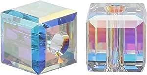 施华洛世奇诞生石立方体水晶珠耳环手镯脚链项链 钥匙扣 首饰制作用品 Crystal Ab 6mm