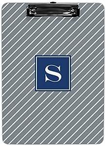 "Boatman Geller AZCP12-SI-W-A Kent 条纹单首字母剪贴板 字母""O"""
