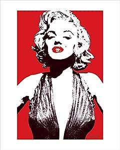 Pyramid International Red Marilyn Monroe 艺术印刷品 多色 40 x 50 x 1.3 cm PPR43010