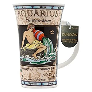 DUNOON 英国进口 骨瓷杯0.50L 十二星座系列-水瓶座 英国制造